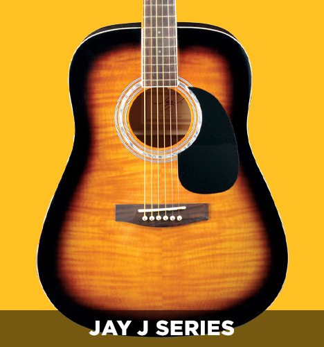 body of Jay J series acoustic guitar